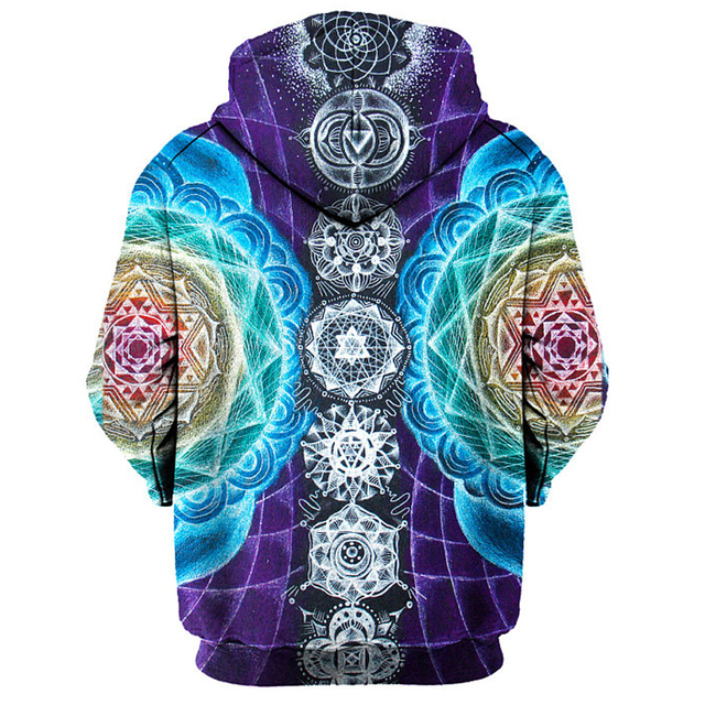 Psychedelic Mandala 3D Hoodie Sweatshirt Men Women Spring Autumn Sportswear Tracksuit All Over Printed Plus Size Clothing S-3XL