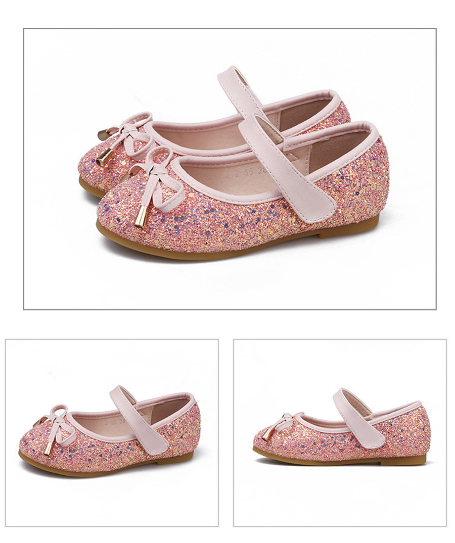 IYEAL Meninas Sapatos Princesa Ouro Rosa Sliver