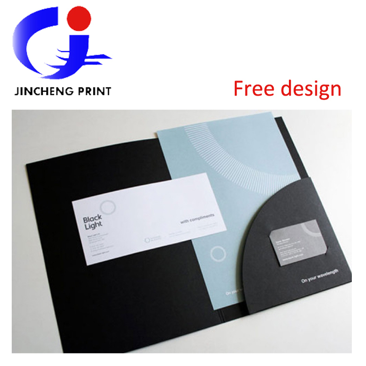 Wholesale A4 Paper Packing File Folder Custom With Company Logo Information Print For A3 Name Card Insert Advertise In From Office