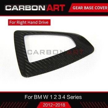 Velocidad de cambio de engranaje de mando de la cubierta de la base de fibra de carbono RHD para bmw 1, 2, 3, 4 SERIES F20 F22 F30 F32 f35 F33 F34 GT mano derecha sólo conducir