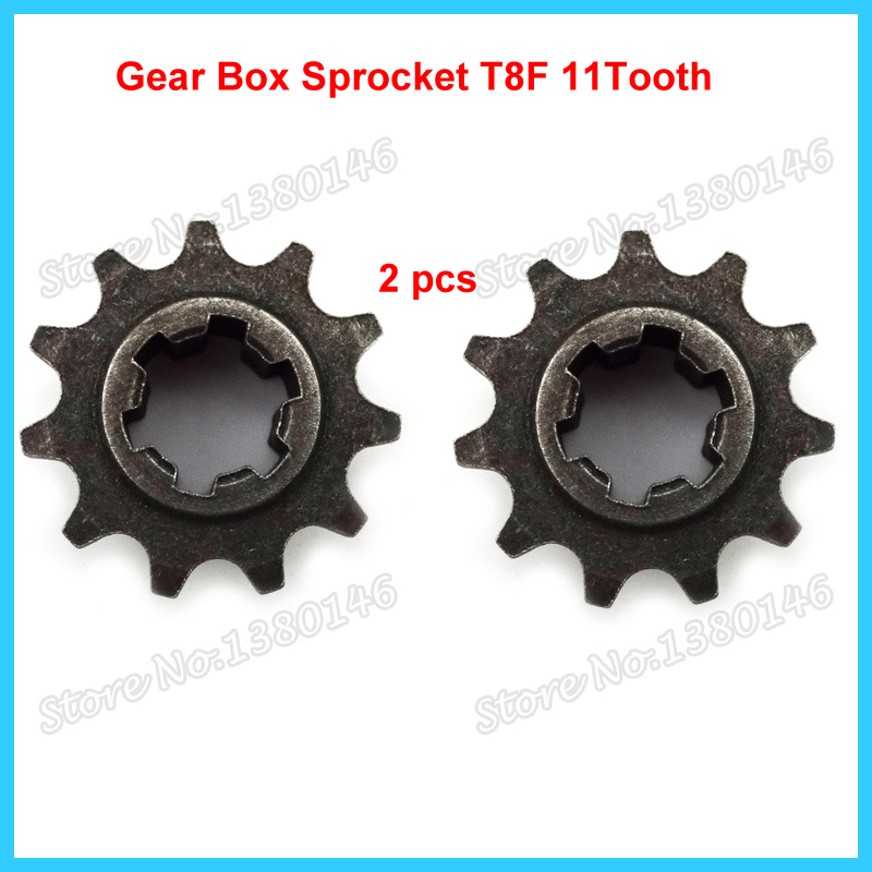 11T Gear Box Front Pinion Sprocket Fit For 47cc 49 cc Pocket Mini Moto Dirt Bike