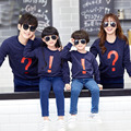 Fashion Casual Autumn Family Matching Clothes Mother/Dad/Baby Kids Printed Long Sleeved Clothing Sweatshirt T -shirts Tops S4116