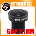 2.1mm 5.0 Megapixel Fisheye CCTV Camera Lens155D Compatibel Groothoek Panoramische CCTV Lens Voor HD IP Camera M12 Mount