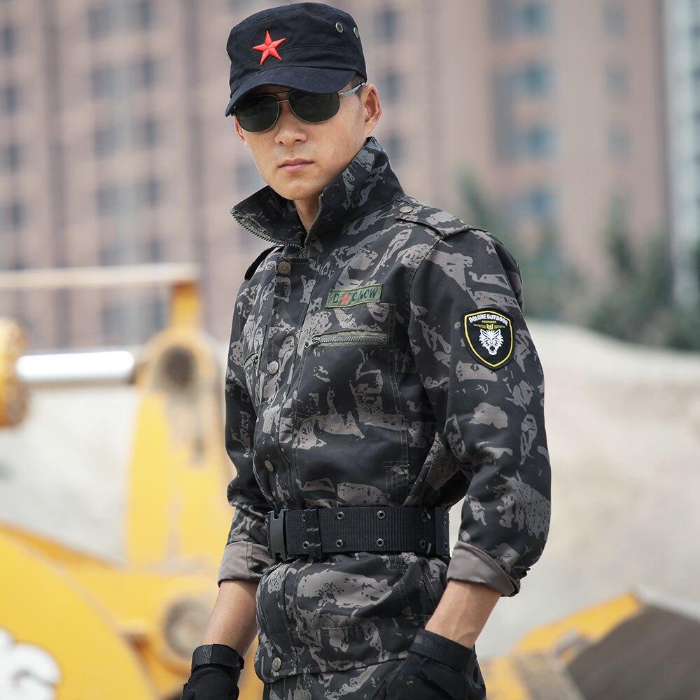 Jacken Pants Männer Camouflage Commando Anzug Beständig Overalls Feines Handwerk RüCksichtsvoll Außen Military Armee Trainingsanzug Mantel