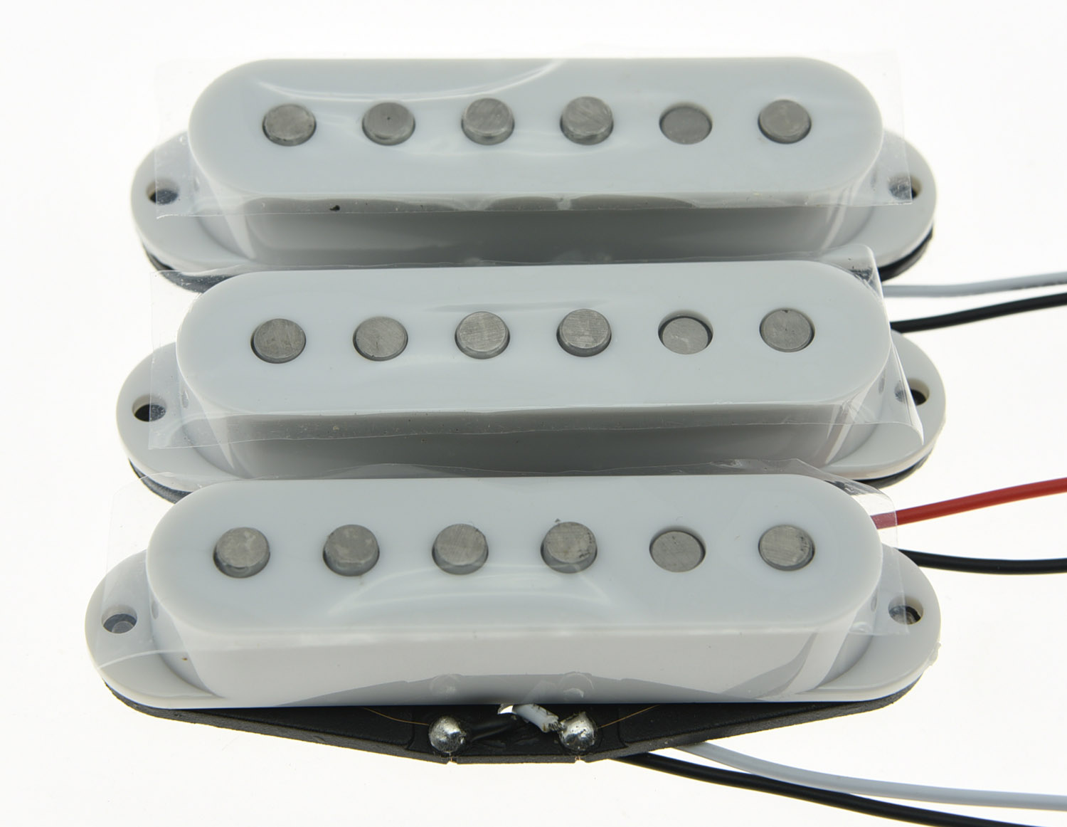 KAISH 3x White Alnico 5 Single Coil Pickups ST Strat SSS Pickup Set tsai hotsale vintage voice single coil pickup for stratocaster ceramic bobbin alnico single coil guitar pickup staggered pole