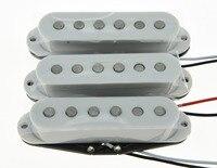 3x White 6 0K 6 0K 6 4K Alnico 5 Single Coil Pickups ST Strat SSS