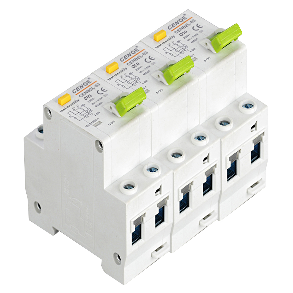fashion circuit breaker 16A 25A 32A 40A 63A 1P+N DPNL residual current Circuit breaker with short circuit Leakage protection chnt chint leakage protector nbe7le 3p n 16a 20a 25a 32a 40a 63a small circuit breaker air switch