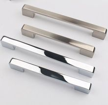 96mm silver drawer kitchen cabinet handle stain nickel dresser cupboard door pull modern simple chrome furniture door handle