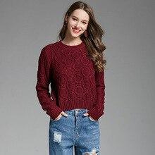 女性ファッションカシミヤセーター Gils プラスサイズ女性の冬暖かい着用女性ニットプルオーバーセーター長袖 O