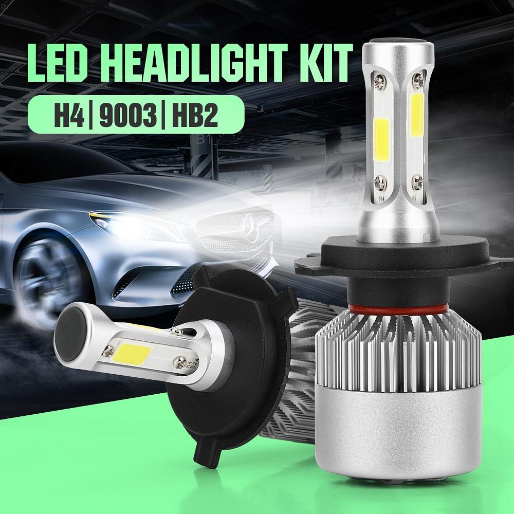 H4 Car Led Headlight High Power Auto H4-3 Hi/lo HB2 9003 H13 9007 High Low 40W X2 White 6000K Bulb Repalcement Bi Xenon Headlamp 12v led light auto headlamp h1 h3 h7 9005 9004 9007 h4 h15 car led headlight bulb 30w high single dual beam white light