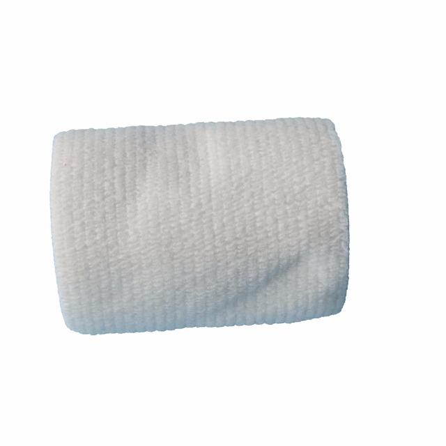 4 Pçs/lote 7.5 cm x 4.5 m Autoadesivo Não Tecido Elástico Cohesive Bandage Fita Aderente Envoltório Cinta Branca
