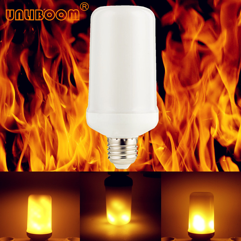 Only Flame Mode With Gravity Sensor E27 E26 E14 E12 LED Flame Effect Fire Light Bulb 7W 9W Flickering Emulation Flame Light Lamp