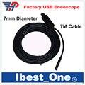 Free 7M USB Endoscope 7mm Diameter Mini Inspection Camera 6 LEDs IP67 Waterproof Ratings USB Camera Photo Shot&Video Record