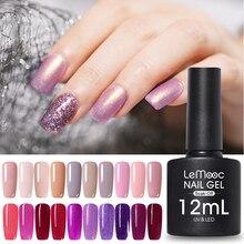 LEMOOC 12ml Big Bottle Nail Paint Gel 183 colors Polish Manicure Semi Soak Off UV Lacquer Varnishes
