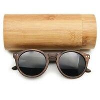 2019 женские мужские деревянные солнцезащитные очки Cateye винтажные Круглые Солнцезащитные очки поляризованные линзы деревянные солнцезащит...