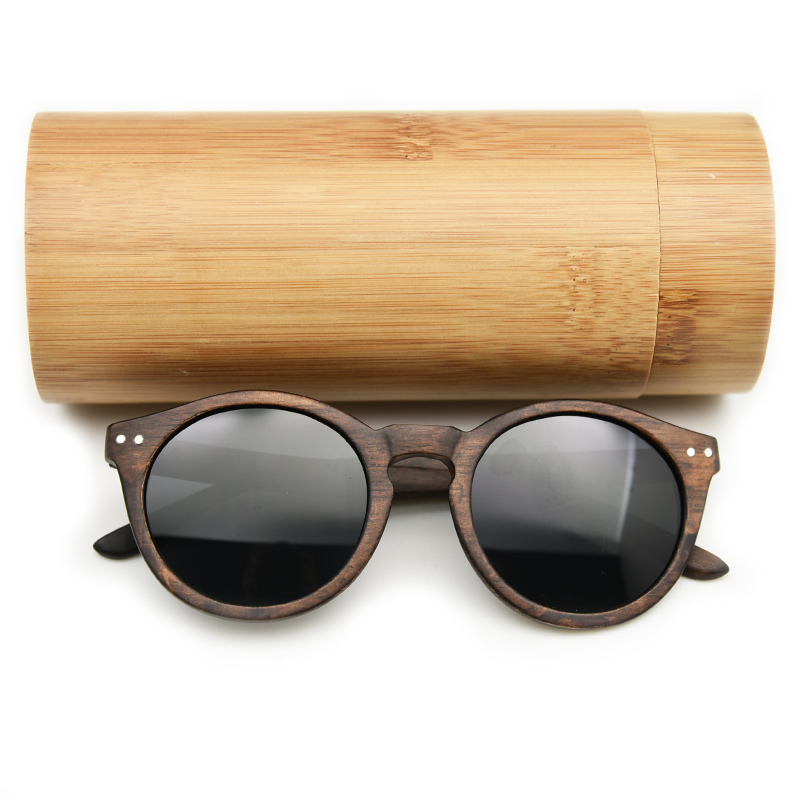 2019 Women Men Cateye Wood Sunglasses Vintage Round Sunglasses Polarized Lens Wooden Sunglasses Free Shipping