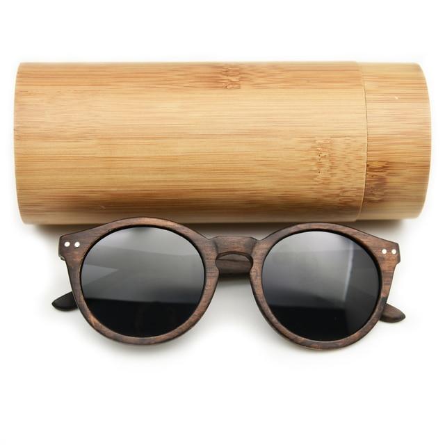 9f48ed43d9 2019 femmes hommes Cateye bois lunettes de soleil Vintage rond lunettes de  soleil polarisées lentille en