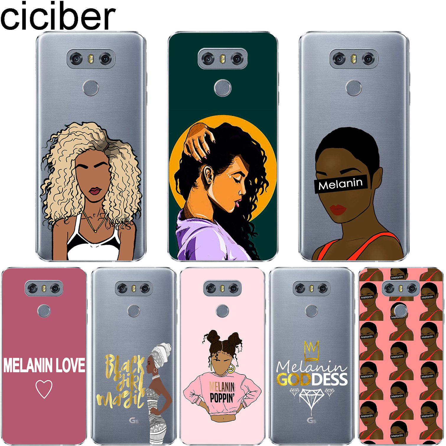 Analytical Ciciber Phone Case For Lg G6 G7 G5 G4 V30 V35 V40 V20 Thinq Soft Tpu For Lg K10 K8 K7 K4 K9 K11 Cellphones & Telecommunications Phone Bags & Cases 2017 2018 Cover Melanin Poppin For Fast Shipping