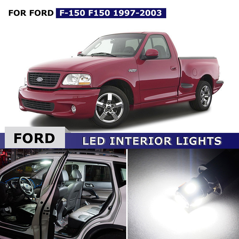16PCS White Interior LED Lights Package Kit Map Dome Door Light Glove Box Lights License Plate Lamp For Ford F150 1997-2003 напольна плитка keraben nature cooper 25x50