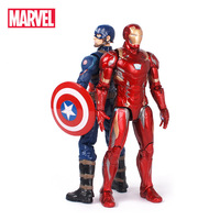 Original Marvel The Avengers America Captain 3 Ironman Spiderman Thor Antman Hulk Action Figures Model Doll Christmas For Kids