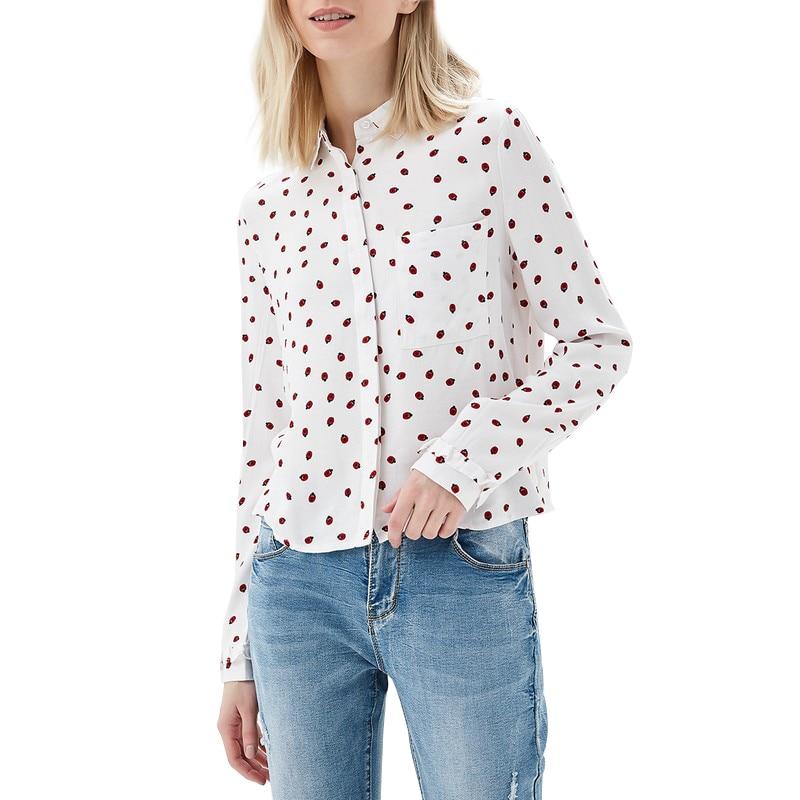 Blouses & Shirts MODIS M181W00374 woman blouse shirt blusas for female TmallFS blouses