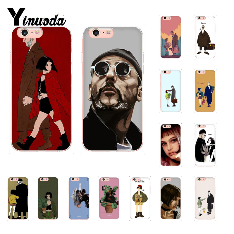 Honest Yinuoda Leon Matilda Natalie Portman Movie Poster Novelty Fundas Phone Case For Iphone 8 7 6 6s Plus X Xs Max 5 5s Se Xr 10 Rich And Magnificent Half-wrapped Case