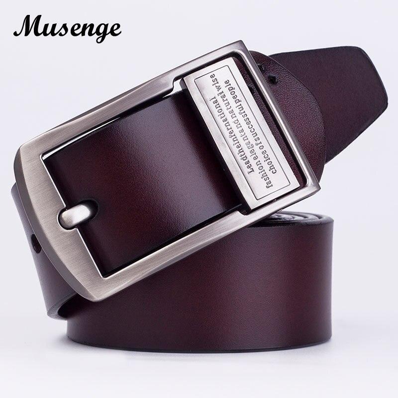 MUSENGE Leather Belt Jeans Marque Cowboy Designer Belts Men