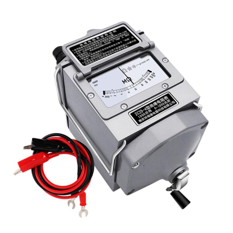 Medidor de Resistência Megohmmeter com Caixa de Plástico Isolamento Megohm Tester Megger Alta Qualidade Zc25-3 500 v 500mo Ohm
