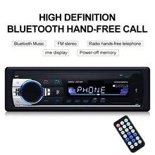 TOSPRA Car Multimedia Player Bluetooth Autoradio MP3 Player Car Stereo Radio FM Aux Input Receiver USB JSD-520 12V In-dash 1 din 2 din 9 inch universal car radio double din stereo multimedia in dash video usb bluetooth car radio multimedia player with cam