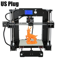 2016 High Quality Anet A6 3D Desktop Printer Kit Reprap Prusa LCD Control Screen Display 3D