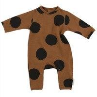 Newborn Baby Rompers Kids Clothing Fashion Autumn Tiny Cotton Infant Jumpsuit Long Sleeve Dot Print Girls