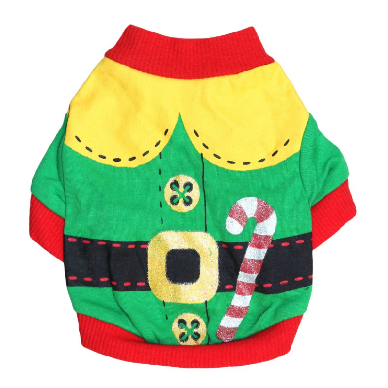 XS/S/M/L Red Pet Dog Clothes Christmas Costume Cartoon Clothes For Small Dog Cloth Costume Dress Winter Apparel Coat Apparel New