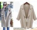 Primavera inverno longo mulheres camisola de malha moda sólidos malha Cardigan de tricô de lã malhas senhora Poncho blusas femininas casaco
