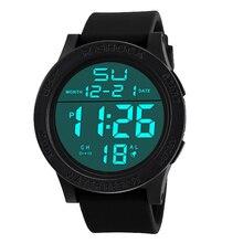 Buenos Relojes Muchacho de Los Hombres de Lujo de la Marca de Moda A Prueba de agua Digital LCD Cronómetro Fecha de Goma Del Deporte de negocios reloj de Pulsera de cuarzo relogio