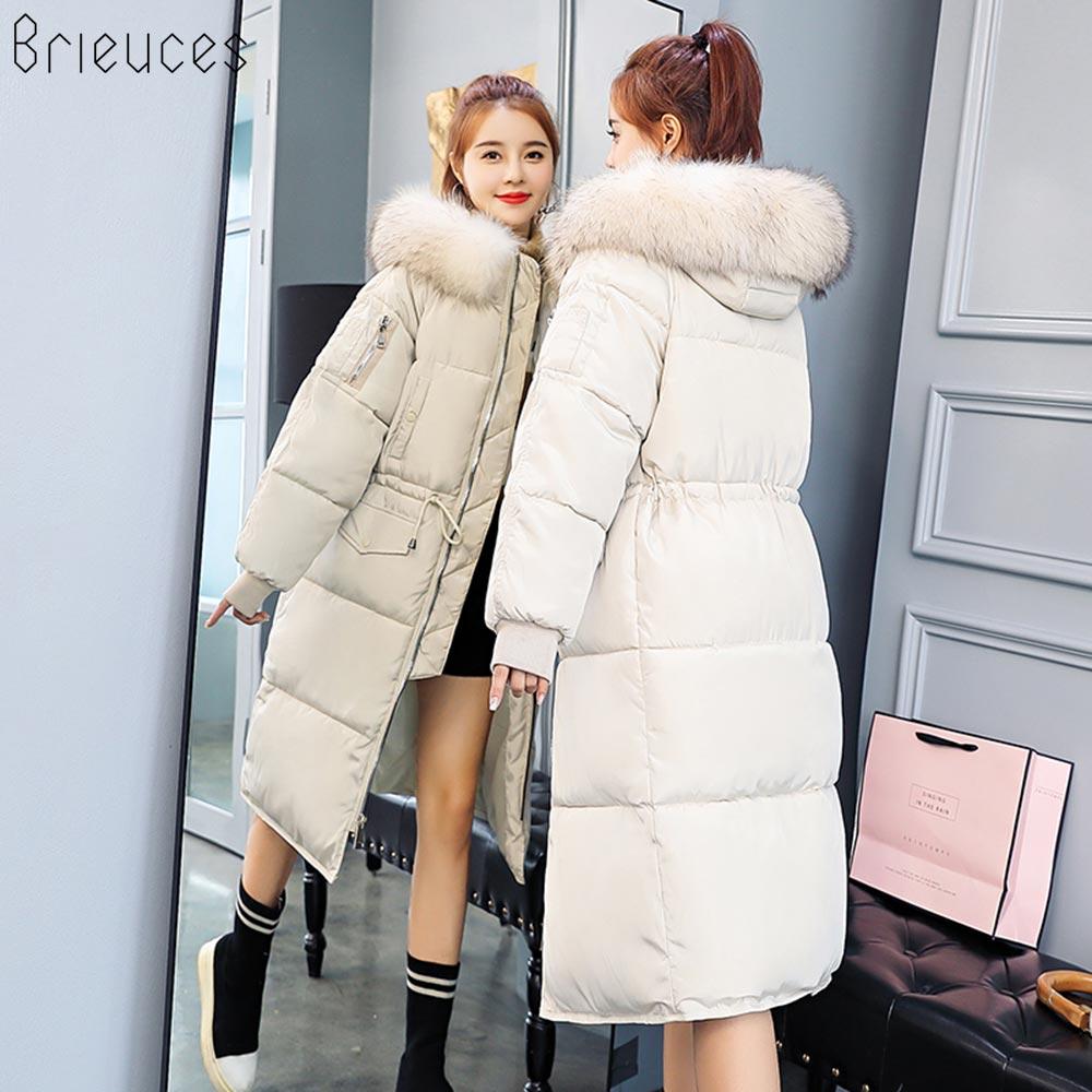 2018 Haute Veste Manteau Femelle gris Beieuces 3xl ivoire Femmes Casual Qualité Taille Fourrure Noir Capuchon Parkas La De Plus D'hiver À Long Mode zd5p5wqx