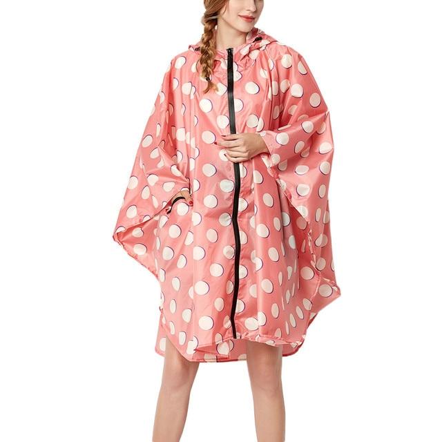 2018 New Womens Wave Point Rain Jacket Outdoor hoodie sweatshirt Waterproof Windproof Coat Outwear Womens Tops and Blouse