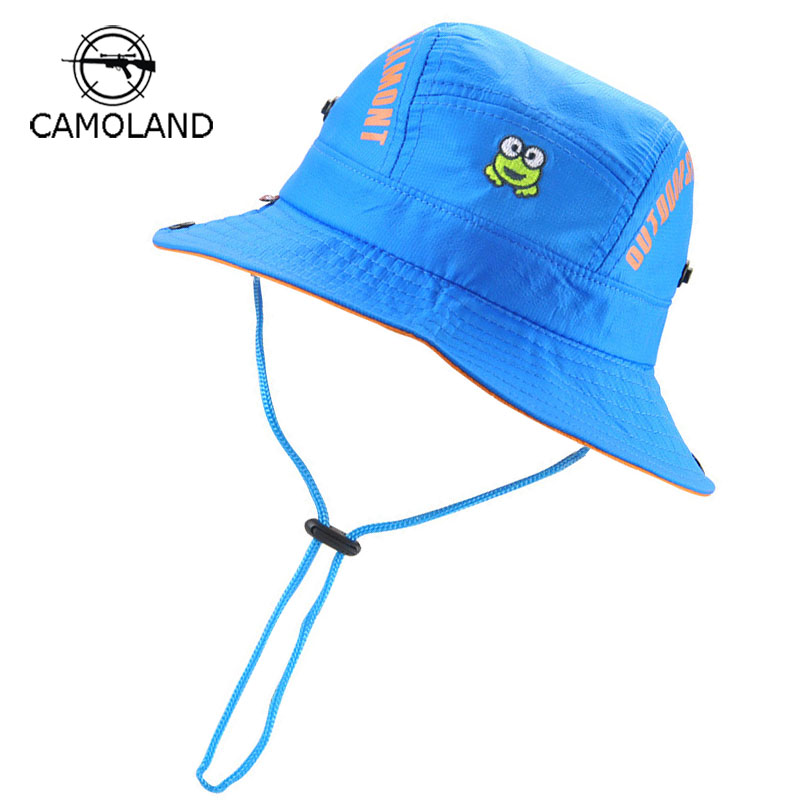 1320870bb3f Infant Sun Hat Kids Bucket Hat Quick-drying Summer Fishing Cartoon Cap Baby Boy  Girl Panama Children Animal Beach hat Outdoors