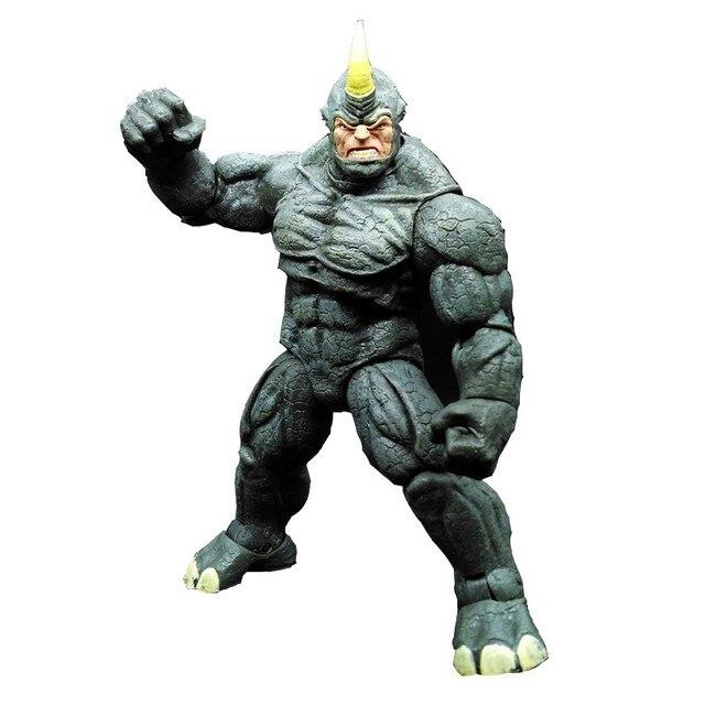 SAINTGI Spider Man Marvel Select RHINO PVC 25 CM Animierte Action ...
