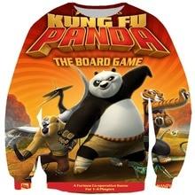 2019 Fashion Mens Outerwear 3d Print Cartoon Kung fu Panda Pullover  Sweatshirt Men Autumn Tops
