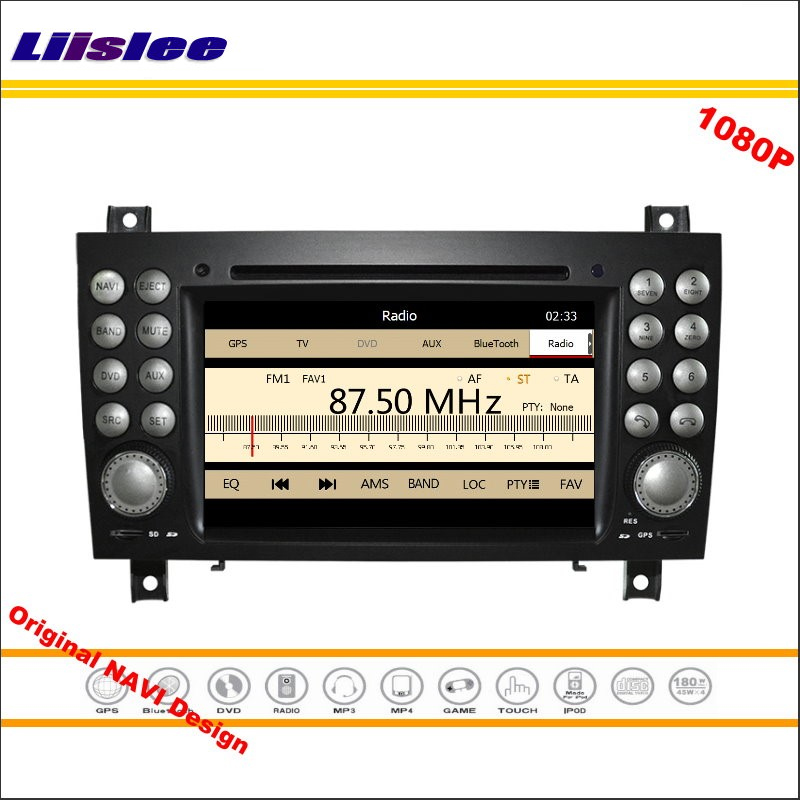 Liislee For Mercedes Benz SLK 171 2004~2011 Stereo Radio CD DVD Player GPS Navigation 1080P HD Screen System Original NAV Design