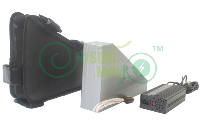 36V 34.8AH Electric Bicycle Customized Triangle Li-ion Battery For NCR18650PF Cell With Free BMS and 5A Charger 10s 36v li ion lithium cell 40a 18650 battery protection bms pcb board balance r179t drop shipping