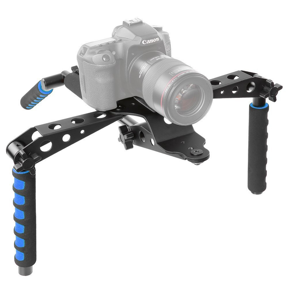Neewer Aluminium Alloy Foldable DSLR Rig Movie Kit Film Making System Shoulder Mount Support Rig Stabilizer for Canon/Nikon aluminum alloy handgrip holder dslr rig shoulder mount movie kit set camera stabilizer dslr rig easy for shooting camera