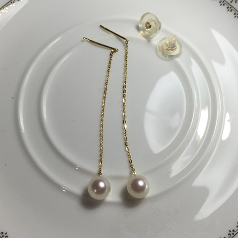 Mode femmes boucles d'oreilles goutte d'eau douce perle 2016 nouveau Top Chic élégant cadeau fête bijoux élégant accessoires dame boucles d'oreilles