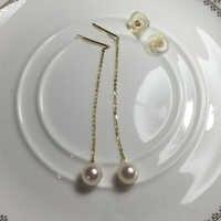 Fashion Women Drop Earrings Freshwater Pearl 2016 New Top Chic Elegant Gift Party Jewelry Elegant Accessories Lady Earrings