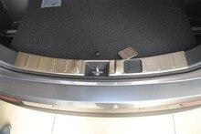 Abaiwai бренд для mitsubishi 2015 2016 outlander нержавеющей стали задний внутренний или внешний бампер предохранителя протектора плиты магистральные ворота