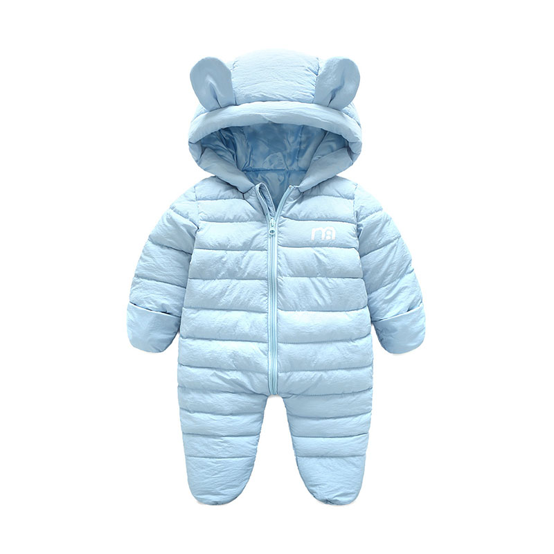 c84305802f0a Baby Snowsuits Newborn Infant Overalls With Bootie Winter Baby ...