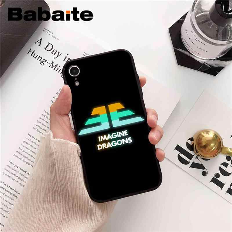 Babaite Imagine Dragons recién llegado funda de teléfono negra para iPhone 8 7 6S Plus 5 5S SE XR X XS X MAX Coque Shell