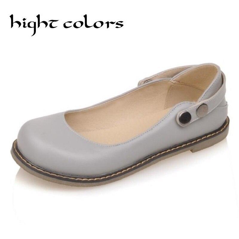 Vintage lindo mujeres Mary Jane zapatos planos mujer mocasines ballet para las  mujeres zapatos mujer tamaño grande 34 -43 a52100c76518