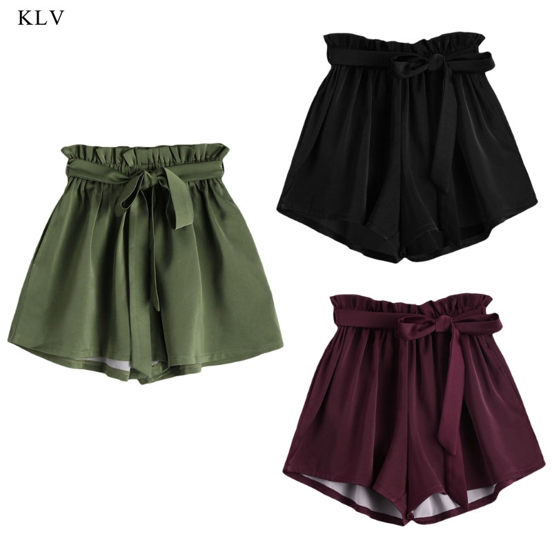 KLV Women New Style Hot Fashion Women Fashion Sexy Lady Summer Casual High Waist   Shorts     Shorts   Bow