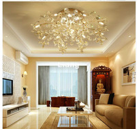 Golden Color Modern G4 Crystal Ceiling Lamp Crystal Light Bedroom Luminarias Home Decoration Creative LED Crystal Ceiling Lamp